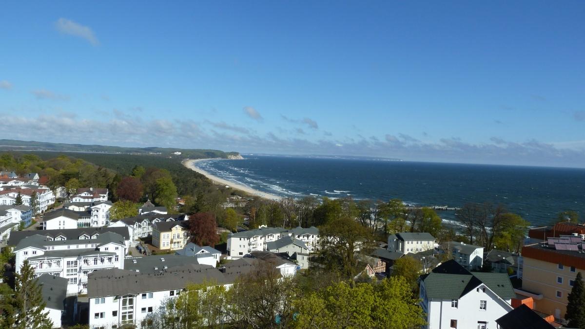 Das Ostseebad Göhren von oben