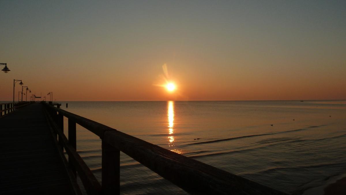 Der Sonnenaufgang im Ostseebad Göhren