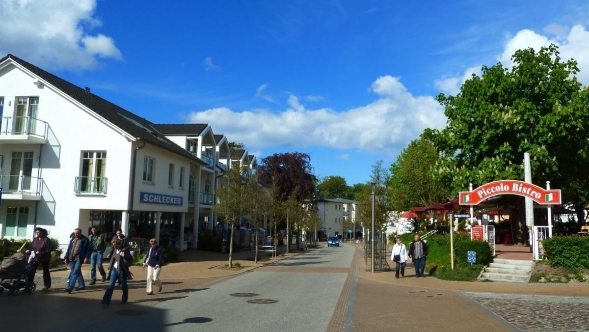 Die Strandstraße im Ostseebad Göhren